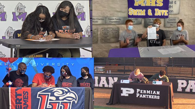 West Texas athletes sign to play college sports