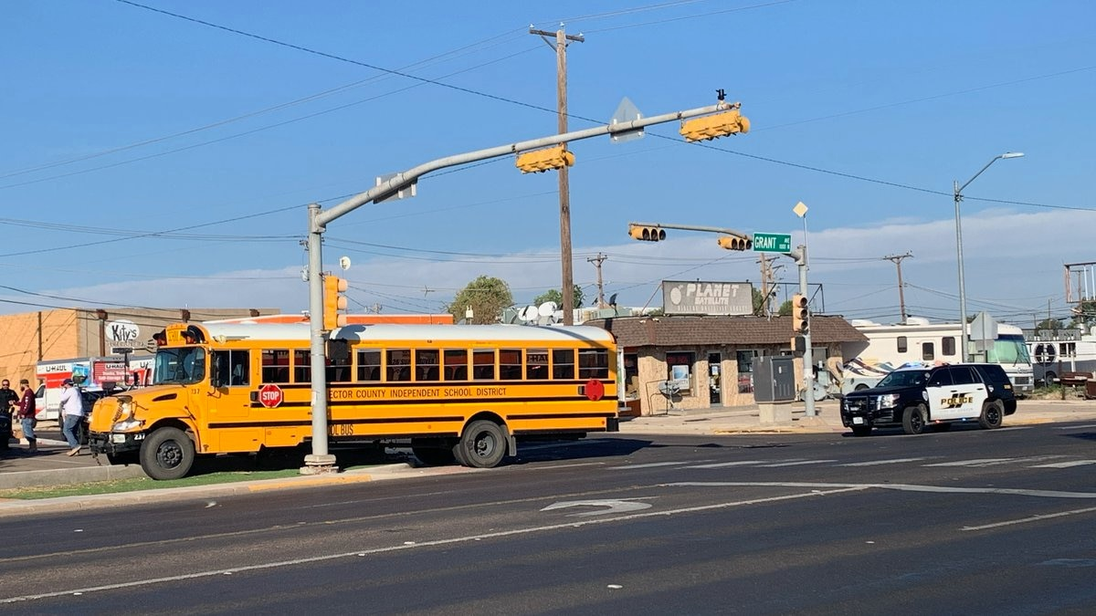 An Ector County ISD school bus was involved in a crash on Tuesday.