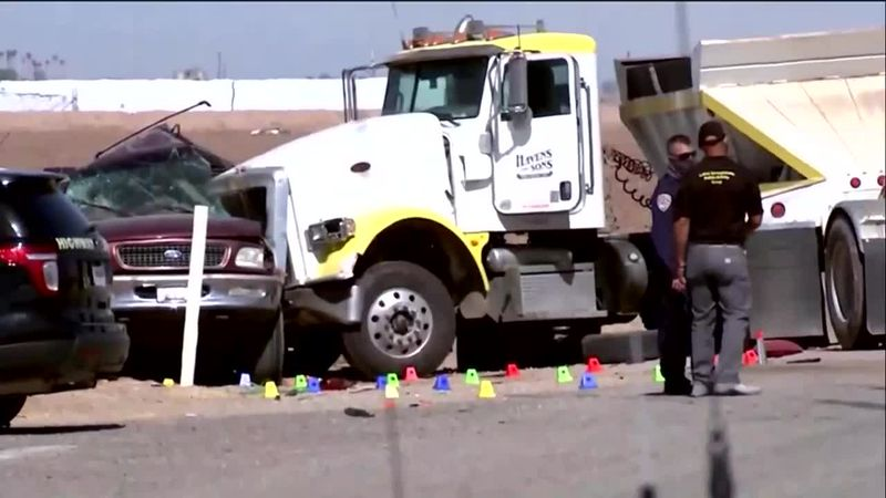 Police say the SUV that crashed was likely part of a 10-foot border wall breach about a...