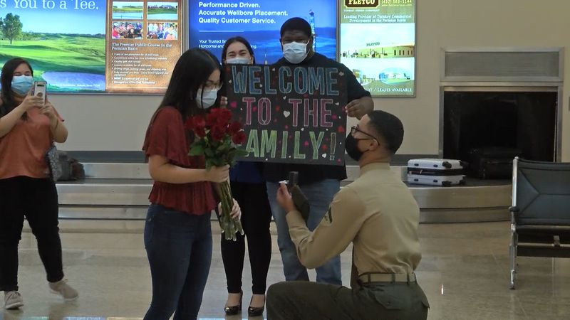 The Midland International airport often hosts departures and arrivals -- but Saturday night, it...