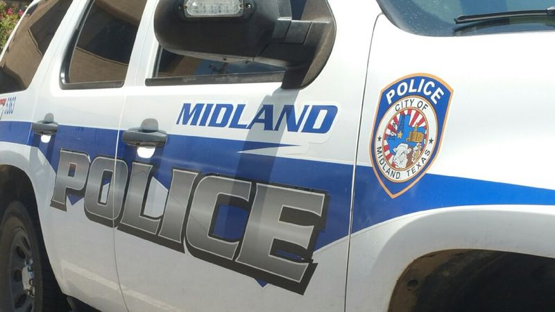 Midland Police Department vehicle. (Abraham Franco/CBS 7)