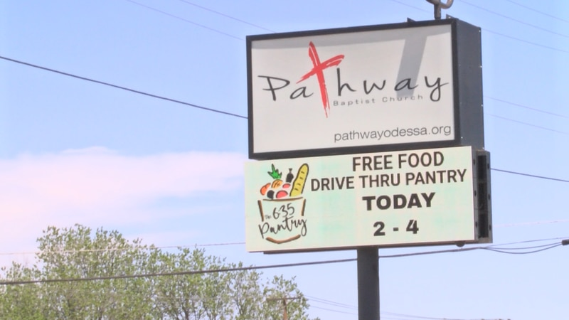 The church distributed 100 boxes to the community filled with non-perishable grocery items.