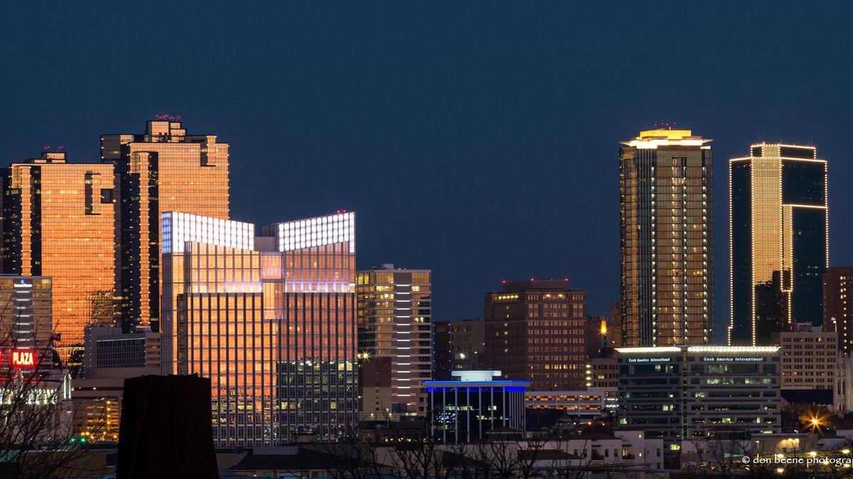 The Ft. Worth skyline at night