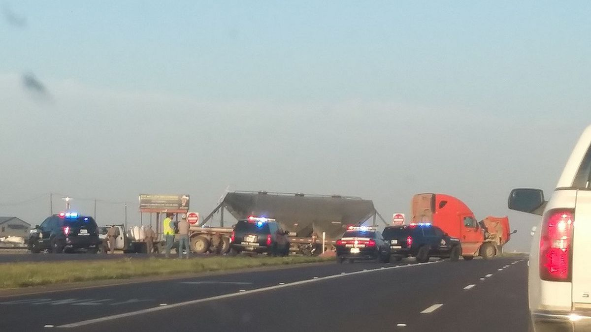 The eastbound lanes of Highway 80 in Midland County are shut down as authorities investigate...