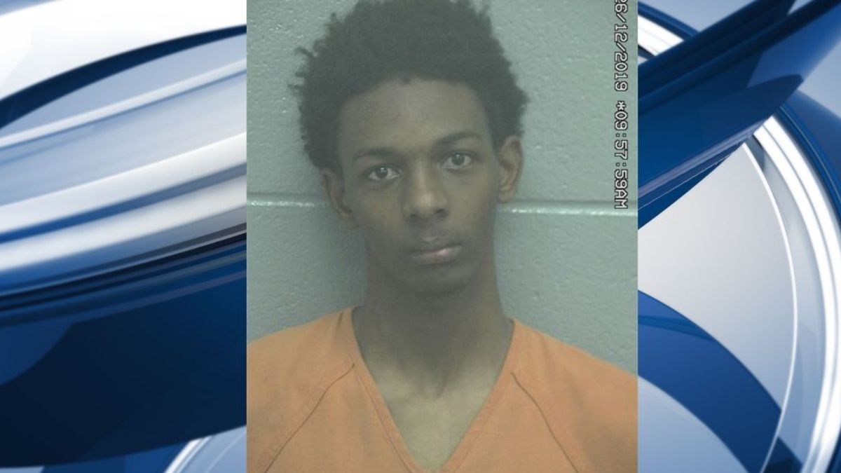 A previous mugshot of Caleb Robert Oneal, 20, from 2019.