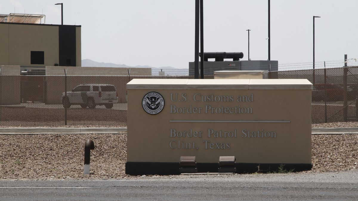 FILE - In this Wednesday, June 26, 2019, file photo is the entrance to the Border Patrol...