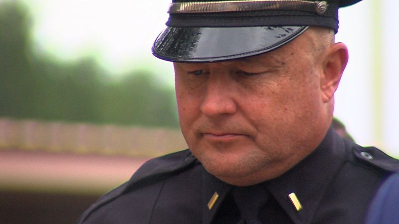 Law enforcement from Midland and Odessa gathered outside the Midland Police Department for a...