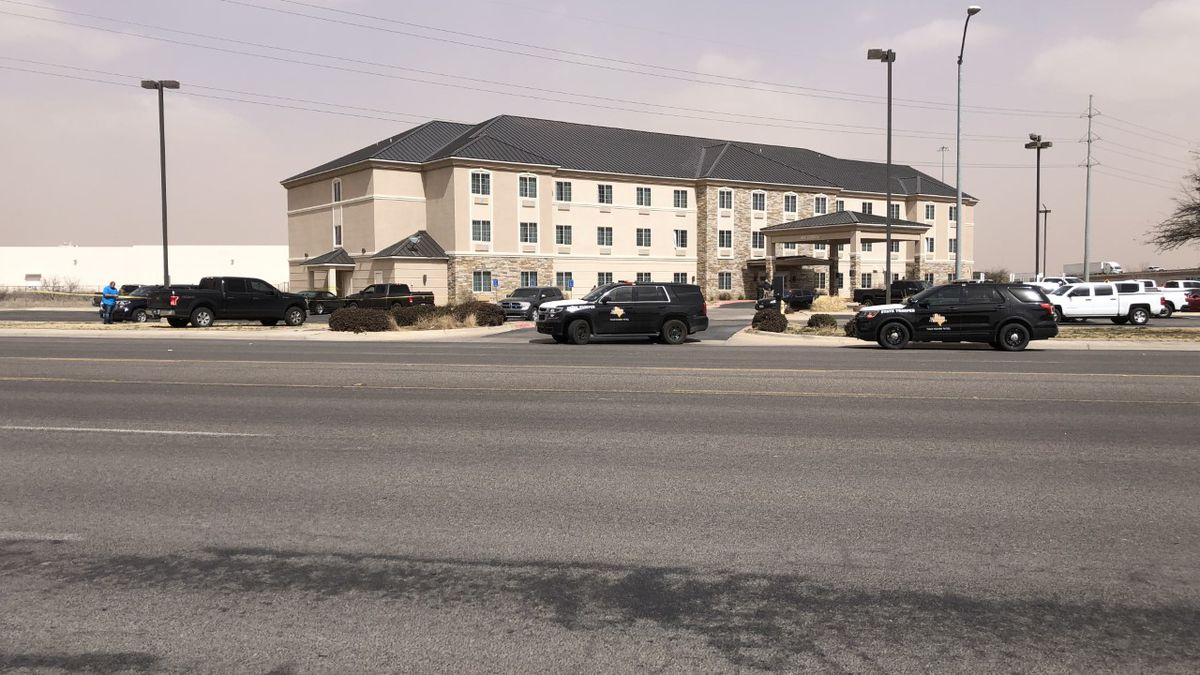 A heavy police presence was reported at Comfort Inn in Odessa on Friday afternoon.