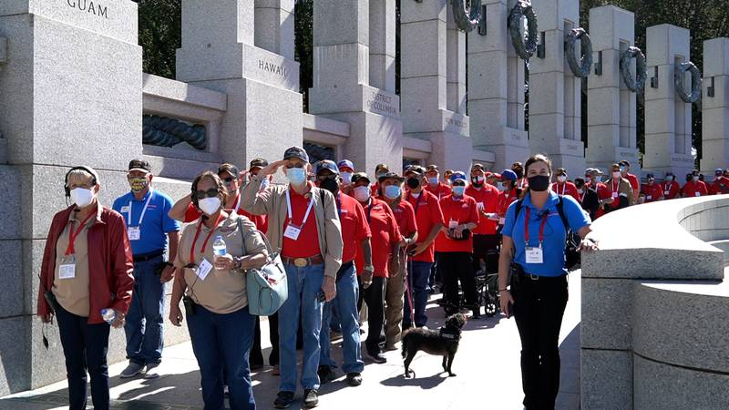 The Permian Basin Honor Flight arrived in Washington D.C. on Friday.