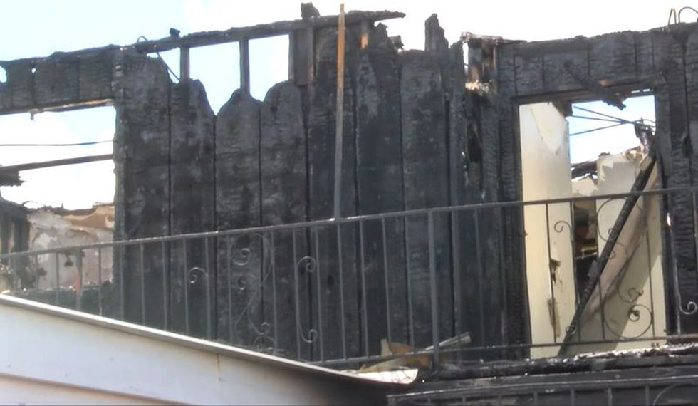 The Ponderosa Apartments were declared a total loss following the fire.