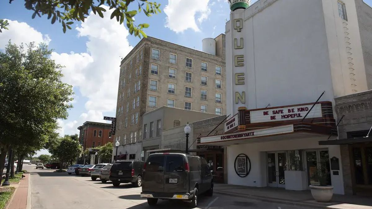 The Queen Theatre near downtown on June 15, 2020 in Bryan.