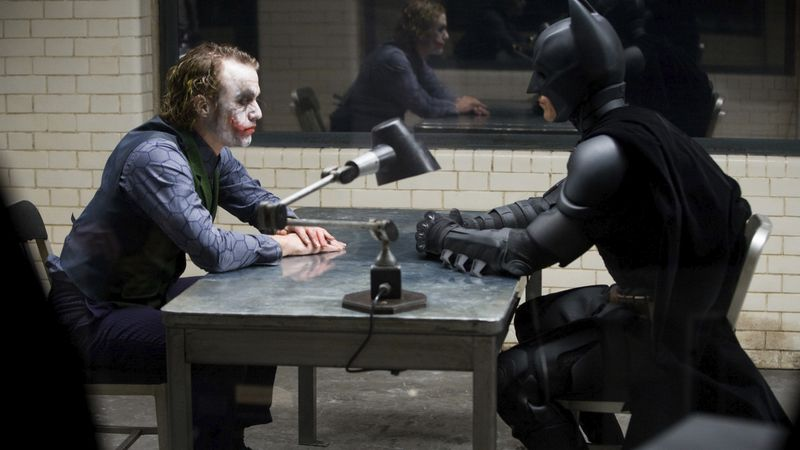 This image released by the Library of Congress shows Heath Ledger, left, and Christian Bale in...