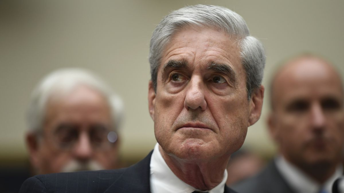 FILE - In this July 24, 2019, file photo former special counsel Robert Mueller testifies on Capitol Hill in Washington before the House Judiciary Committee hearing on his report on Russian election interference. Mueller pushed back Tuesday, Sept. 29, 2020, against criticism from one of the top prosecutors on the Russia investigation team that the team was not as aggressive as it should have been in probing connections between Donald Trump's 2016 campaign and Russia.