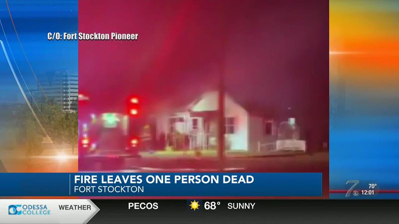 One person was killed in a house fire Monday night in Fort Stockton, according to the Fort...