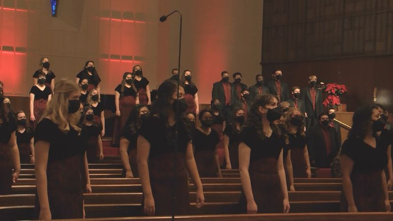 On Saturday, the choir taped their entire program at the United Methodist Church of Midland.