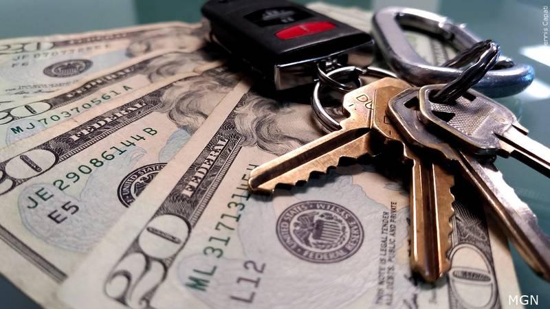 Keys and money.