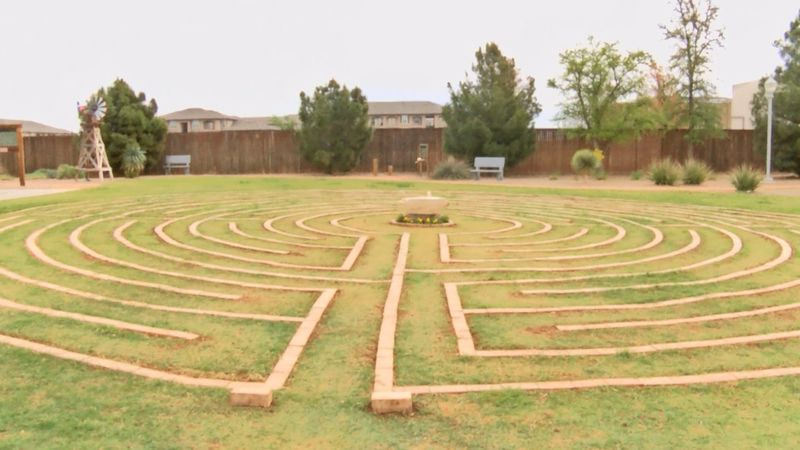 The Springboard Center unveiled its labyrinth on Thursday.