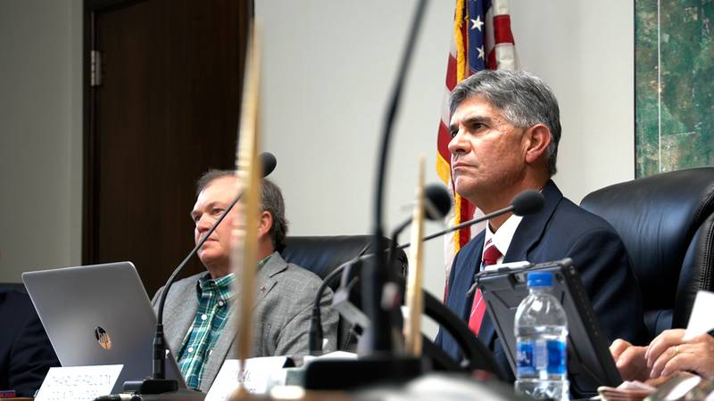 The Andrews County Commissioner's Court listens to citizen input about high-level nuclear waste.