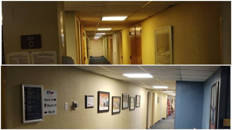 Examples of the lighting change.