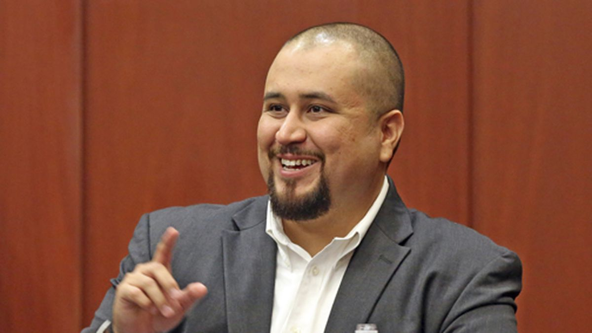 In this Sept. 13, 2016 file photo, George Zimmerman smiles as he testifies in a Seminole County courtroom in Orlando, Fla. (Red Huber/Orlando Sentinel via AP, Pool, File)