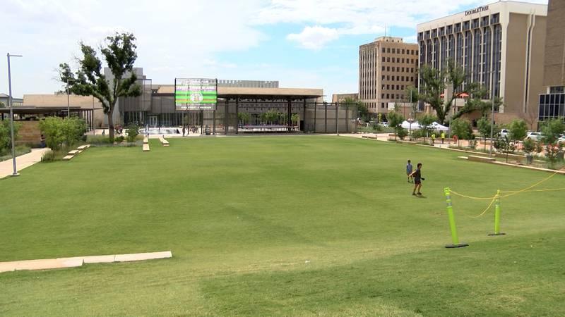 Centennial Park in Downtown Midland.