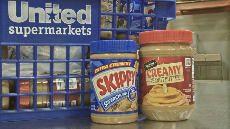 Donations of peanut butter.