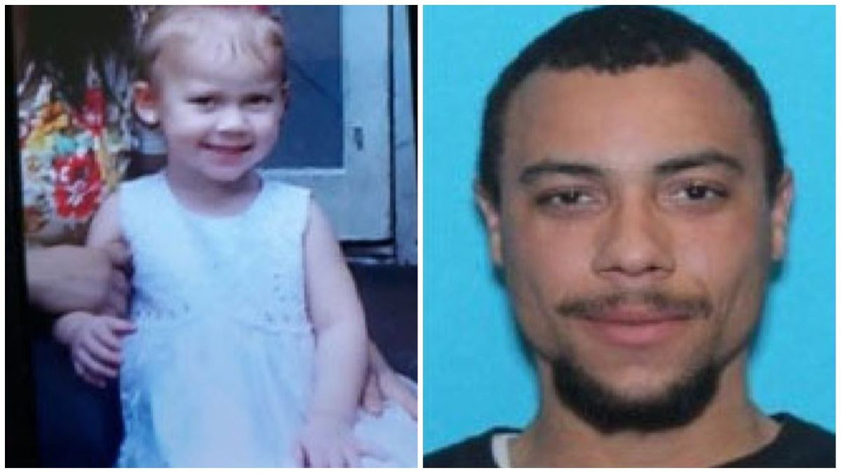 Authorities believe that Zimia Whitaker, 2, was abducted by 27-year-old Zenas Montre Whitaker.
