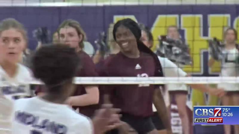 Midland Legacy vs. Midland High volleyball