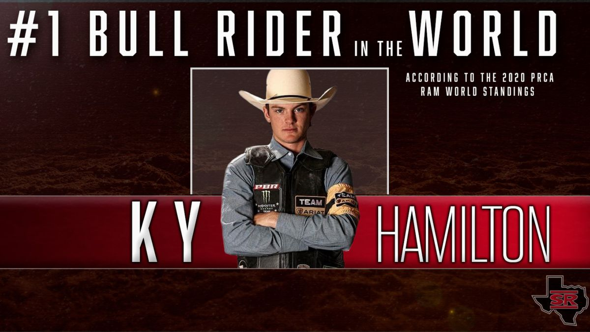 Sul Ross State Rodeo's Ky Hamilton named the best bull rider in the world by the Professional Rodeo Cowboys Association