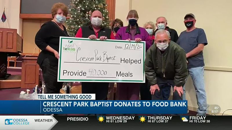 Crescent Park Baptist donates to West Texas Food Bank