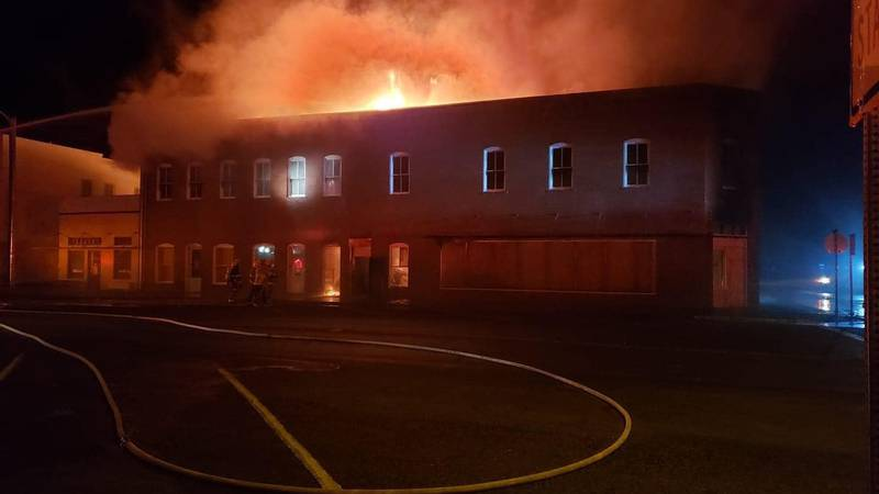 The building that houses Donald Judd's Architecture Office in Marfa caught on fire early Friday...