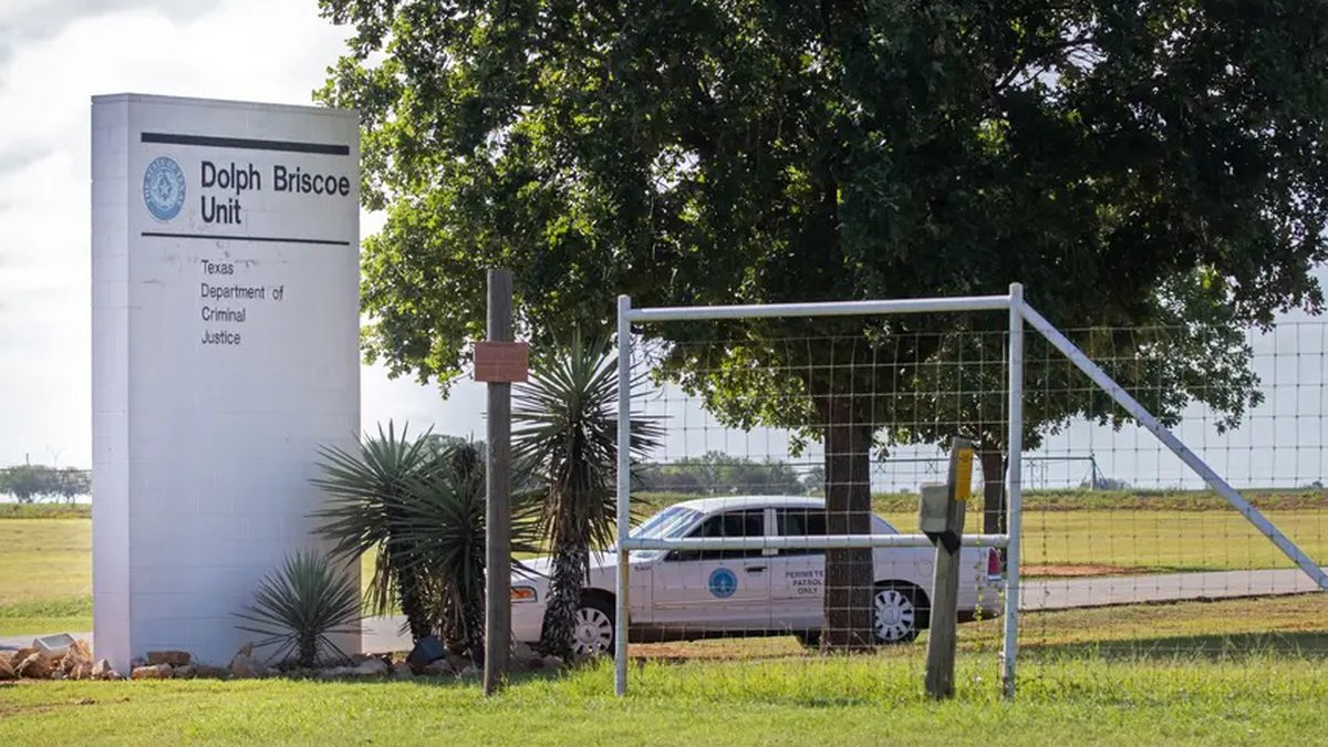 The Briscoe Unit in Dilley, Texas, was emptied of state prisoners last month to instead detain...