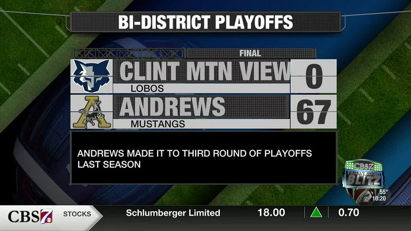 HIGHLIGHTS: Andrews vs. Clint Mountain View