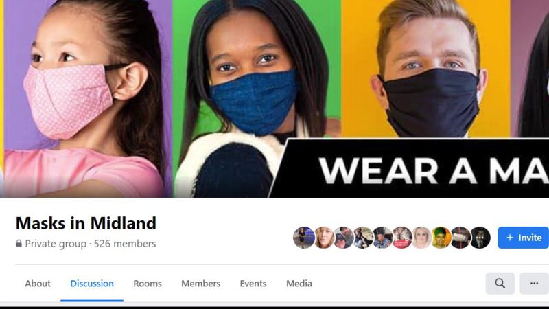 A screenshot of the Masks in Midland page.