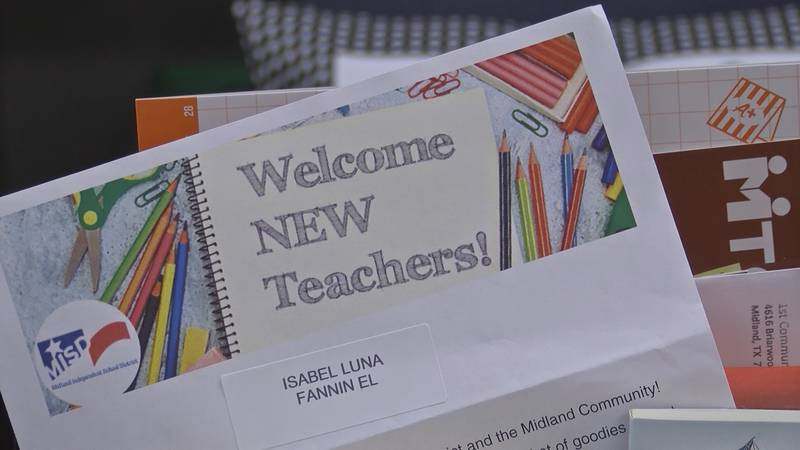 Special boxes were delivered to new Teachers at Midland ISD