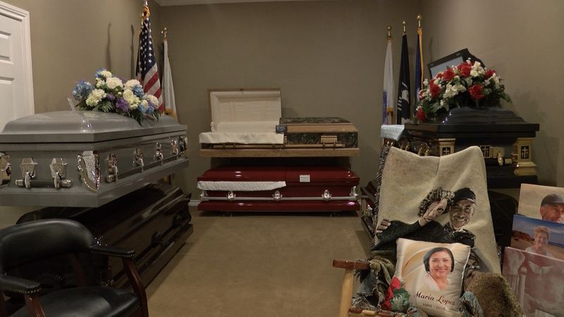 When someone dies, the funeral home will wrap their body in a shroud or cloth and then place it...