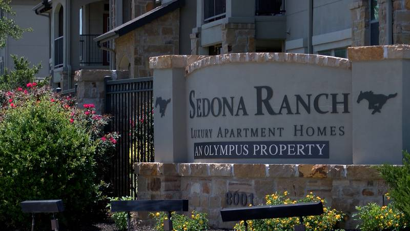 The entrance to Sedona Ranch Apartments in Odessa.