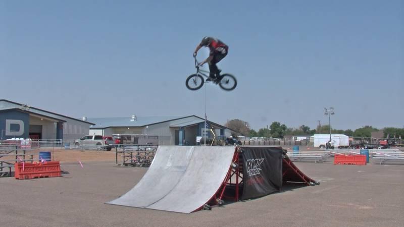 The BMX show at the Permian Basin Fair & Expo.