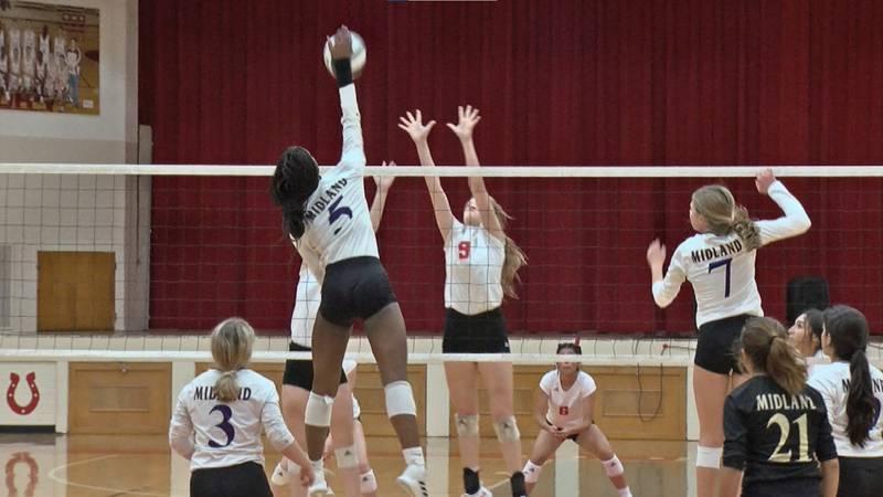 Midland High volleyball