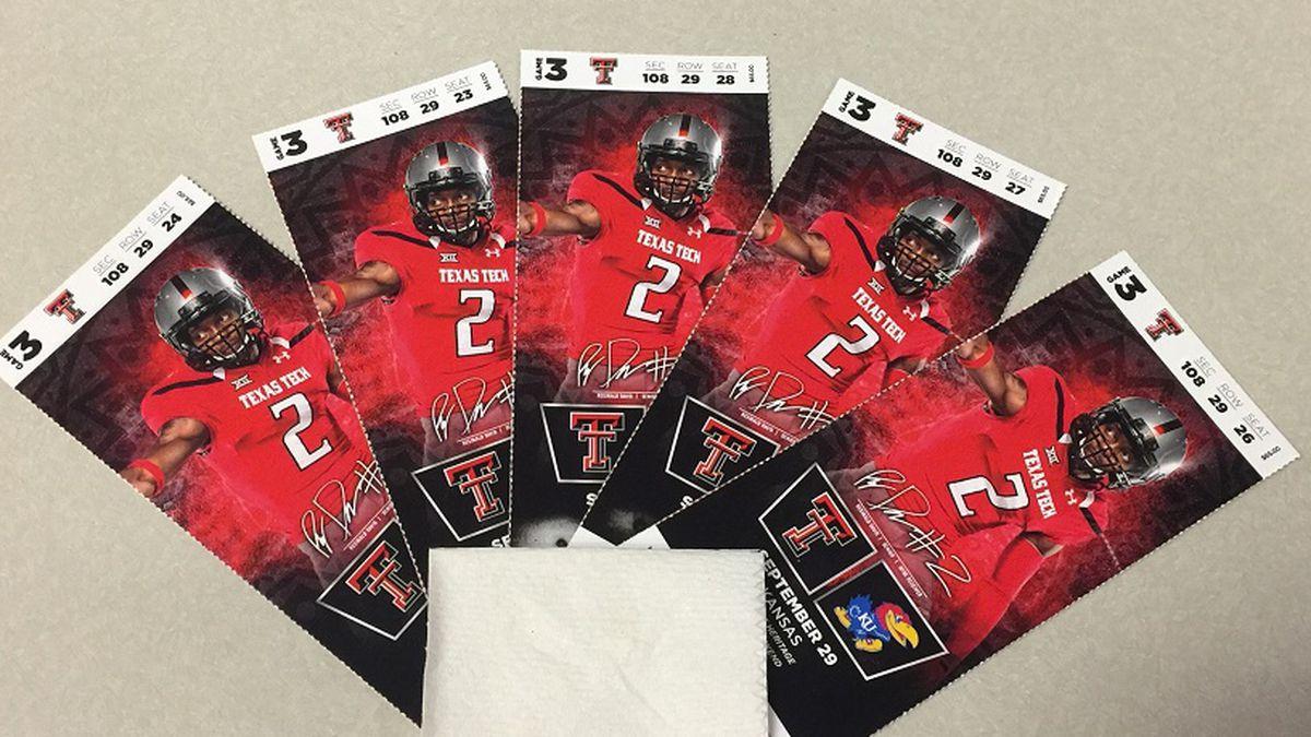 Giveaway For Texas Tech Kansas Football Tickets
