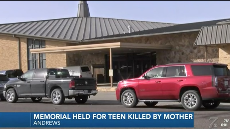 A memorial service was held in Andrews on Saturday for the teen shot and killed by his mother...
