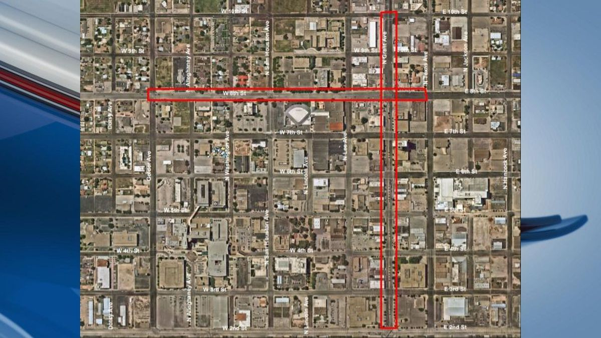 (Map courtesy of the City of Odessa)