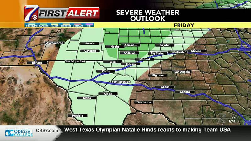 West Texas Weather Forecast 6/25