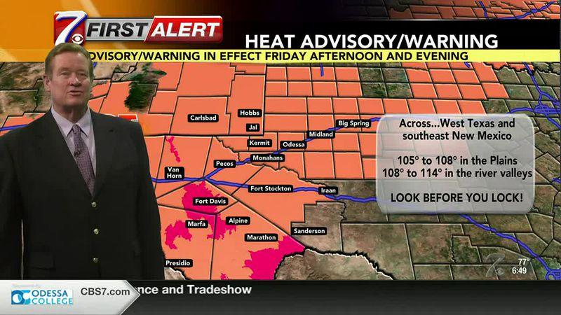 West Texas Weather Forecast 6/11