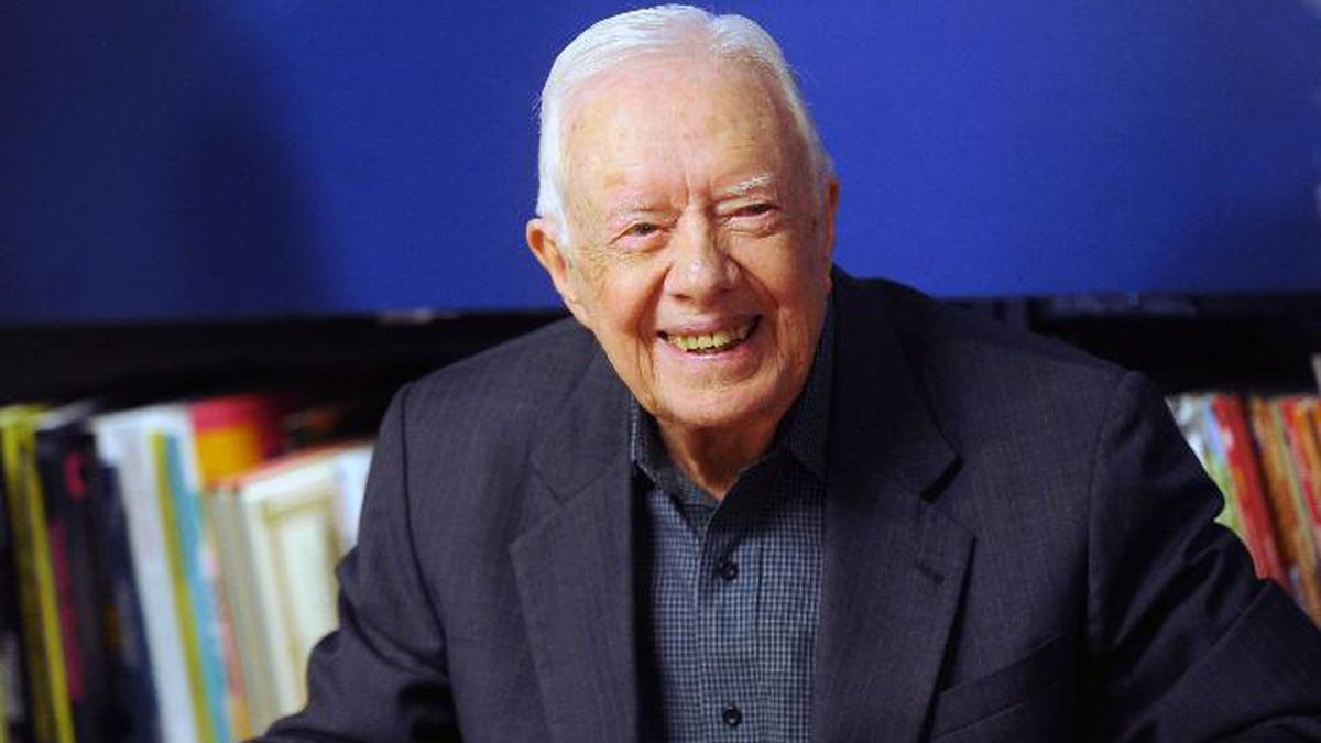 """November 14th 2019 - Former President of The United States of America Jimmy Carter is recovering at Emory University Hospital in Atlanta, Georgia following surgery to relieve pressure on his brain from bleeding after a number of recent falls. - October 7th 2019 - Former President of The United States of America Jimmy Carter injured after falling at his Georgia home on Sunday, October 6th. He required 14 stitches in his head and suffered a black eye. - File Photo by: zz/Dennis Van Tine/STAR MAX/IPx 2018 3/26/18 Jimmy Carter signs copies of his new book, 'Faith"""" at Barnes & Noble in New York City. (NYC)"""