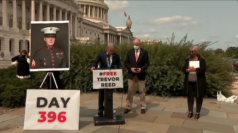 The mother of a former Marine cries out for justice from the nation's capitol, hoping to be...