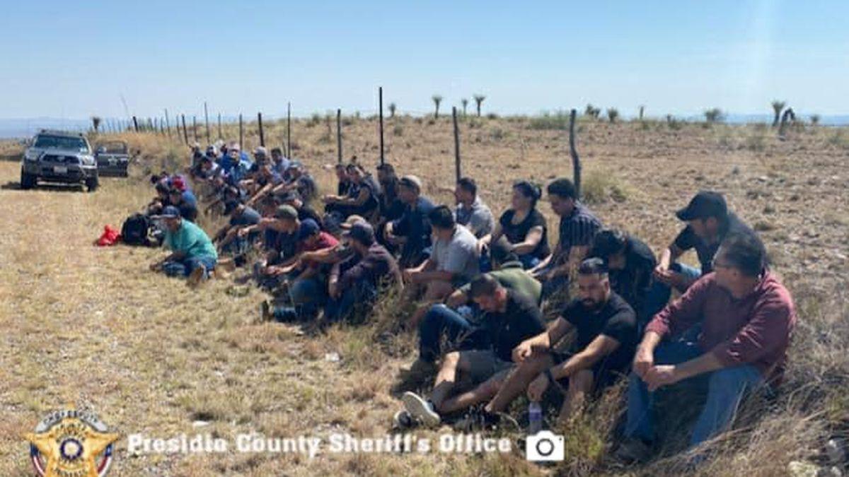 Presidio County Sheriff's deputies found 51 people hiding inside of an RV on Friday morning.