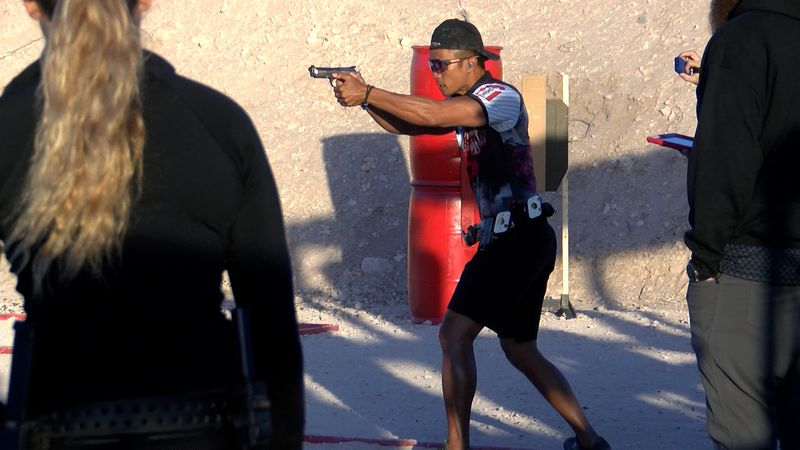 World champion pistol shooter JJ Racaza participated in the 2021 Team Motley Dragons Cup
