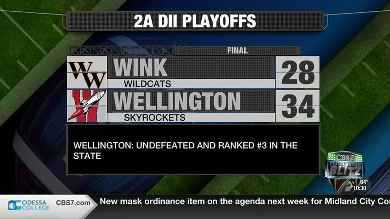 Wellington defeats Wink 34-28 in the second round of playoffs