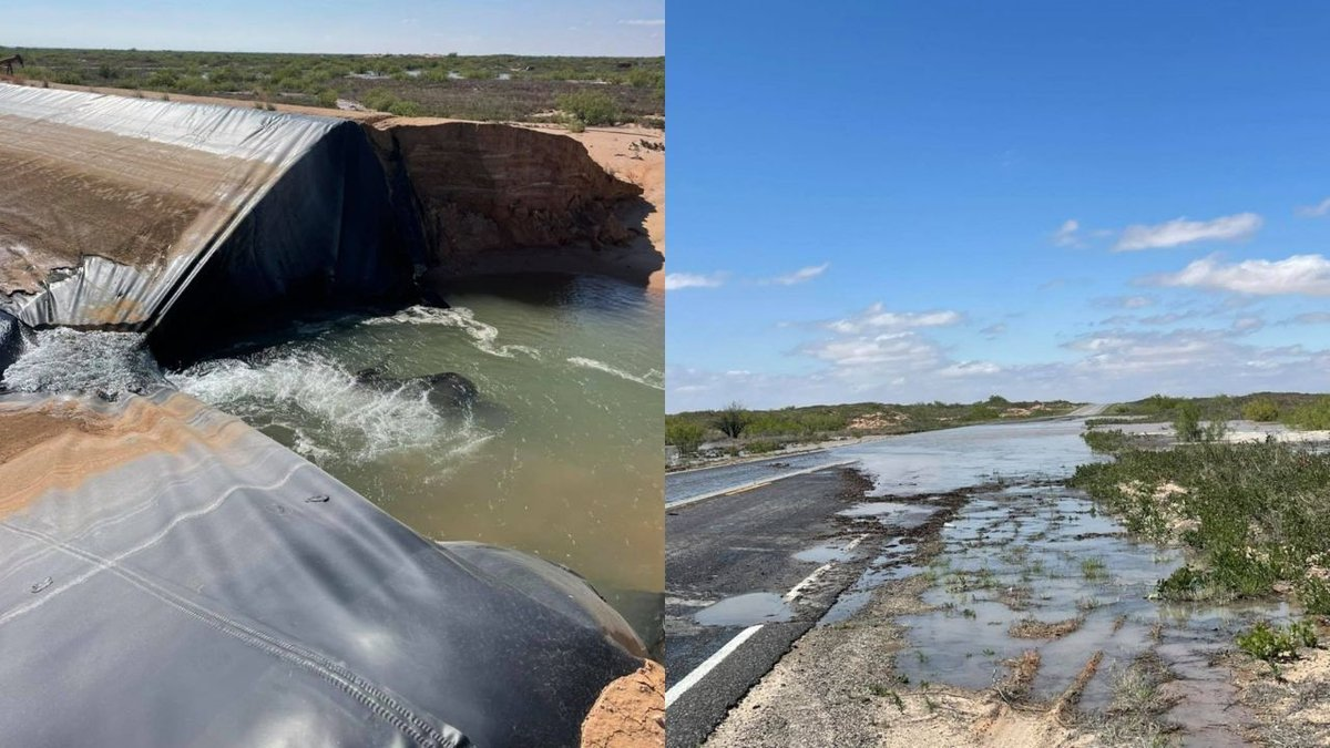 More than three million gallons of fresh water were lost when the wall of a frac pond collapsed...